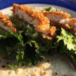 Kale, Guacamole and Crispy Chicken Wraps